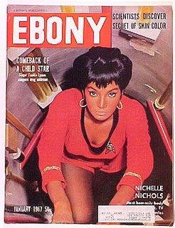Nichelle Nichols on Ebony as Lt. Uhura